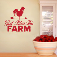 "God Bless This Farm Wall Decals 48"" wide x 42"" tall Sample Image"