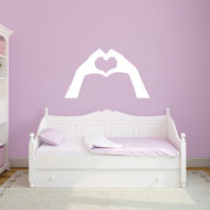 "Heart Hands Wall Decals 48"" wide x 28"" tall Sample Image"