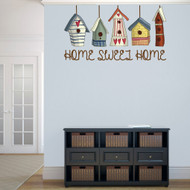 "Home Sweet Home Bird Houses Printed 48"" wide x 26"" tall Sample Image"