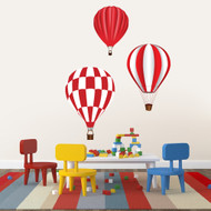 Hot Air Balloons Printed Wall Decals and Wall Stickers