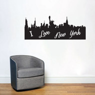 I Love New York City Silhouette Wall Decals and Stickers