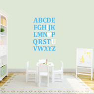 "I Love You Alphabet Wall Decals 25"" wide x 36"" tall Sample Image"