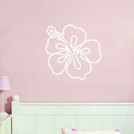 Hibiscus Flower Outline Wall Decals and Stickers