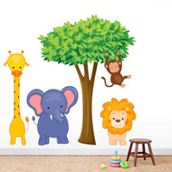Jungle Scene Printed Wall Decals and Stickers