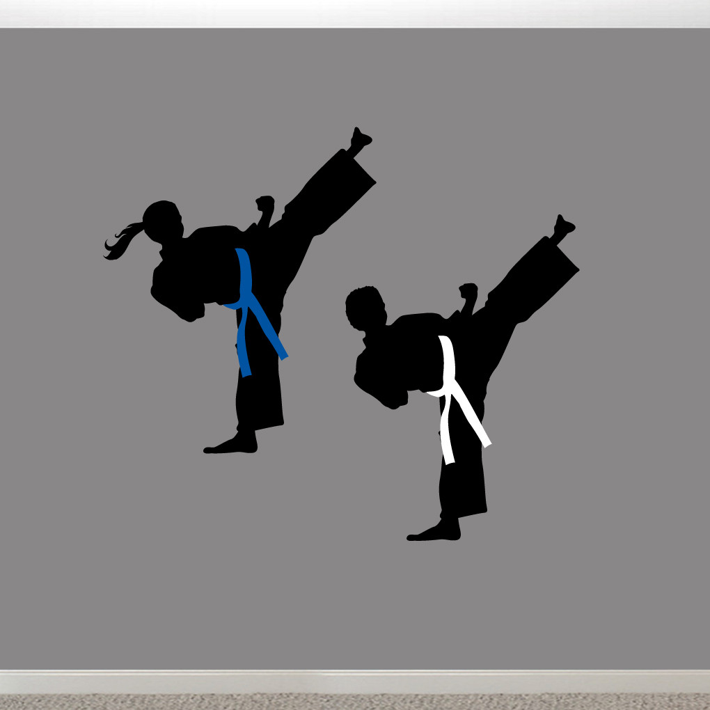 karate wall decals wall decor stickers