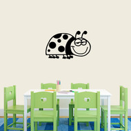"Ladybug Cartoon Wall Decals 24"" wide x 15"" tall Sample Image"