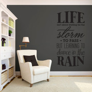 """Learning To Dance In The Rain Wall Decals 30"""" wide x 60"""" tall Sample Image"""