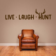 "Live Laugh Hunt Wall Decals 60"" wide x 14"" tall Sample Image"