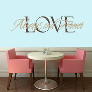 Love Always and Forever Wall Decals and Wall Stickers