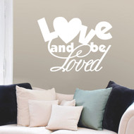 Love And Be Loved Wall Decals and Wall Stickers