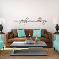 "The Love Of A Family Wall Decals 48"" wide x 10"" tall Sample Image"