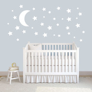 Moon and Stars Wall Decals and Stickers Sample Image