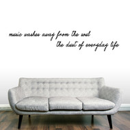 Music Washes Away From The Soul Wall Decals Wall Stickers
