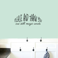 "Please And Thank You Wall Decals 26"" wide x 12"" tall Sample Image"