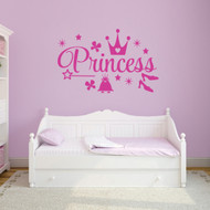 "Princess Set Wall Decals 36"" wide x 22"" tall Sample Image"