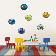 Trucks Printed Wall Decals Medium Sample Image