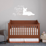 "Quite Fawn'd Of You Wall Decals 48"" wide x 22.5"" tall Sample Image"