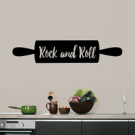 "Rock And Roll Rolling Pin Wall Decals 48"" wide x 10"" tall Sample Image"