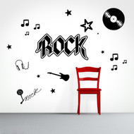 Rock And Roll Set Wall Decals and Stickers