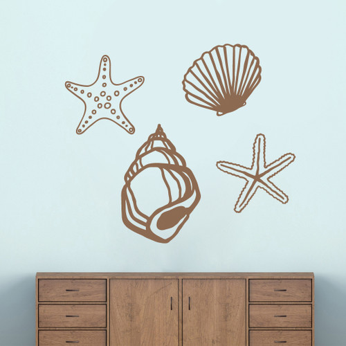 seashells wall decals home d 233 cor wall decals seashell wall decals nursery wall decals sand dollar