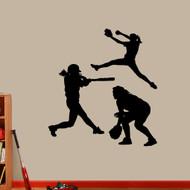 Softball Girls Room Wall Decals Large Sample Image