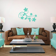 Spring Flower Scroll Wall Decals and Stickers