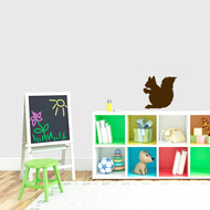 "Squirrel Silhouette Wall Decal 12"" wide x 12"" tall Sample Image"