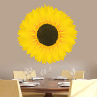 "Sunflower Printed Wall Decals 36"" wide x 36"" tall Sample Image"