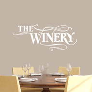 "The Winery Wall Decals 36"" wide x 15"" tall Sample Image"