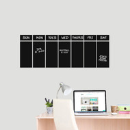 "This Week Chalkboard Calendar Wall Decals 30"" wide x 11"" tall Sample Image (Writing Not Included With Order)"