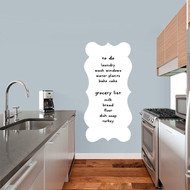 "Fancy Dry Erase Wall Decals 23"" wide x 48"" tall Sample Image (writing not included)"