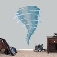 "Tornado Mascot Printed Wall Decal 45"" wide x 60"" tall Sample Image"