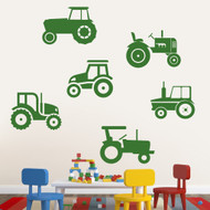Set of Tractors Wall Decals Large Sample Image