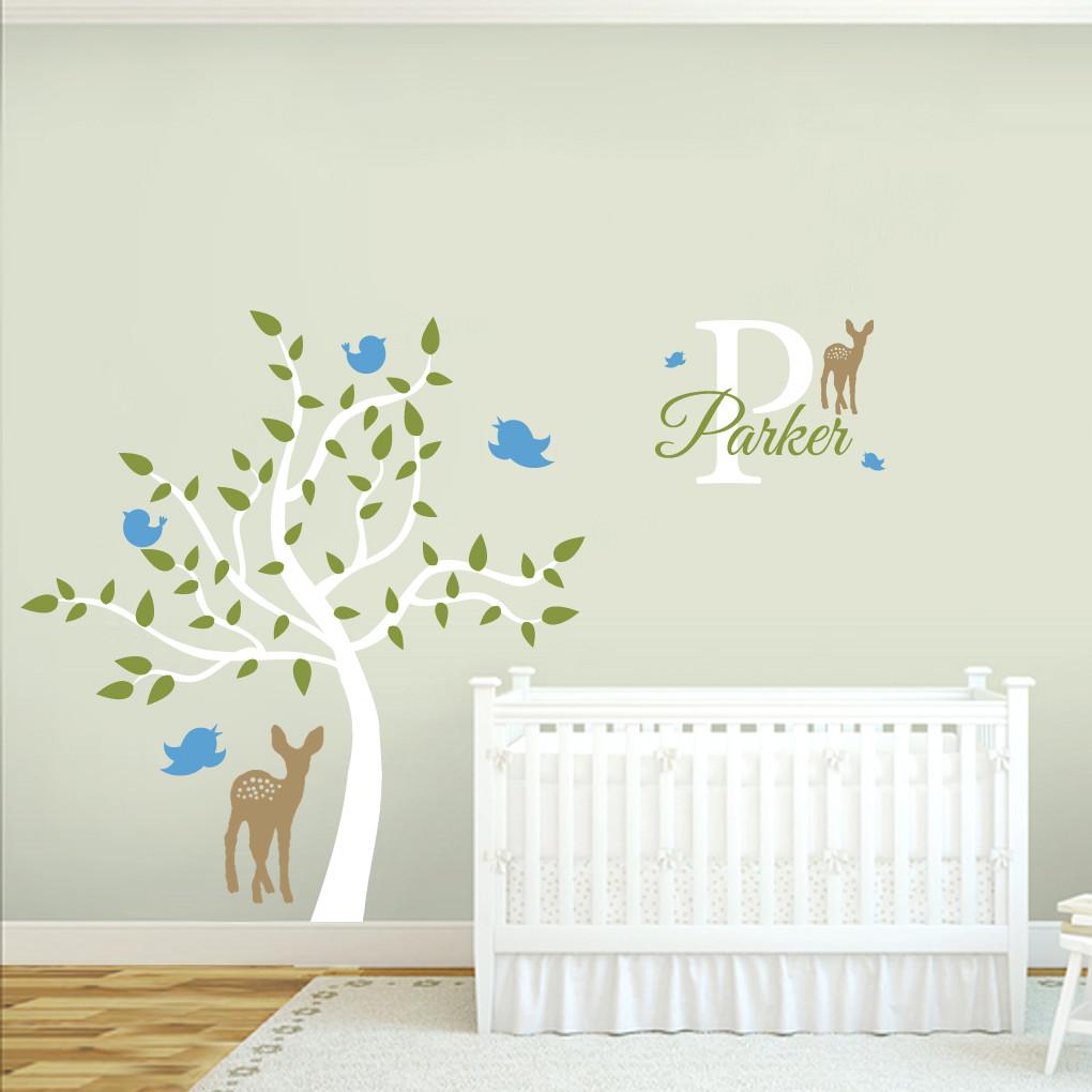 Custom Names Wall Decor : Custom name tree wall decals decor stickers