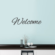"Welcome Script Wall Decals 36"" wide x 9"" tall Sample Image"