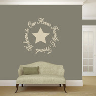 "Welcome To Our Home Family & Friends Wall Decals 36"" wide x 36"" tall Sample Image"