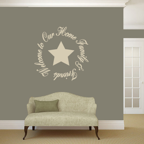 Welcome To Our Home Entryway Wall Decals And Stickers - Wall decals entryway