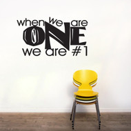 When We Are One Wall Decals and Wall Stickers