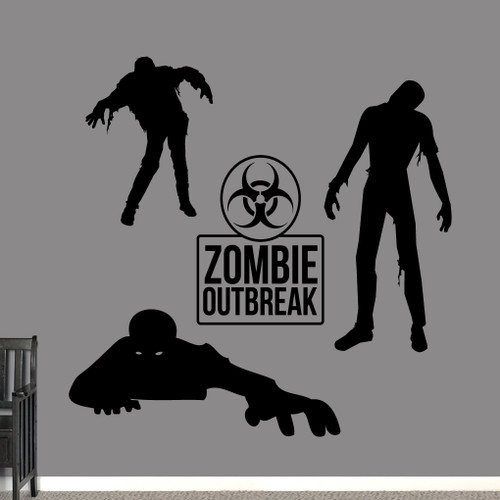 Zombies Set Wall Decals Large Sample Image