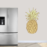 "Pineapple Printed Wall Decals 26"" wide x 48"" tall Sample Image"