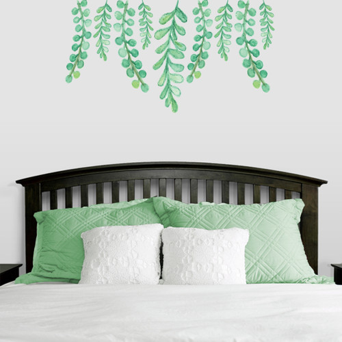 "Hanging Eucalyptus Printed Wall Decals 48"" wide x 26"" tall Sample Image"