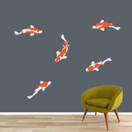 Koi Fish Printed Wall Decals Large Sample Image