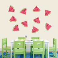 Watermelon Printed Wall Decals Large Sample Image