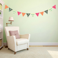 Flag Pattern Bunting Printed Wall Decals and Stickers