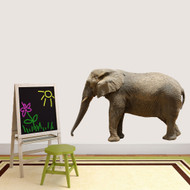 """Real Life Elephant Printed Wall Decals 55"""" wide x 36"""" tall Sample Image"""