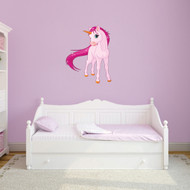 """Pink Unicorn Printed Wall Decals  28"""" wide x 36"""" tall Sample Image"""