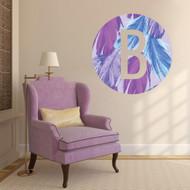 Printed Pattern Circle Monogram Cutout Wall Decals