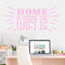 "Home Is Where The Wifi Is Wall Decals 48"" wide x 22"" tall Sample Image"