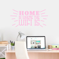 "Home Is Where The Wifi Is Wall Decals 36"" wide x 17"" tall Sample Image"