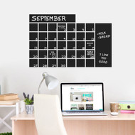 "Chalkboard Calendar Wide Wall Decals 30"" wide x 20"" tall Sample Image"